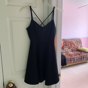 Black dress with strappy back from wet seal